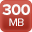 300MB maximum incoming bandwidth